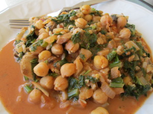 Thai Kale & Chic Peas